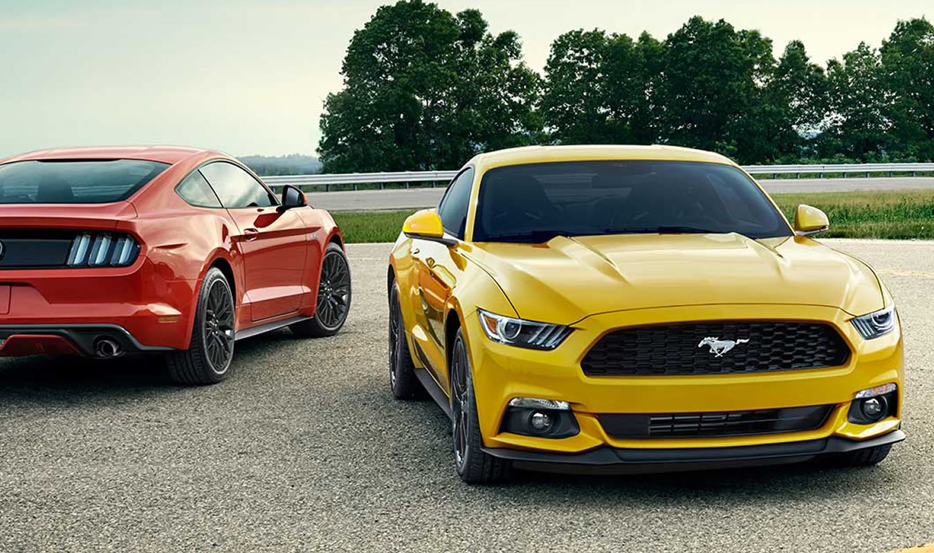 Red & Yellow Mustang